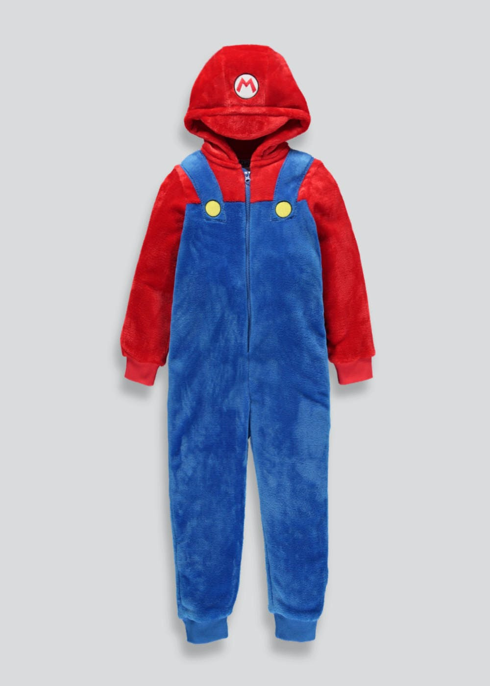 kids mario novelty onesie 4 12yrs blue matalan