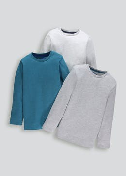 Kids 3 Pack Long Sleeve T-Shirts (4-13yrs)