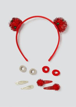 Christmas Tinsel Pom Hair Multipack