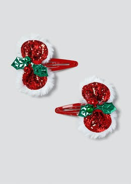 Christmas Holly Bow Snaps