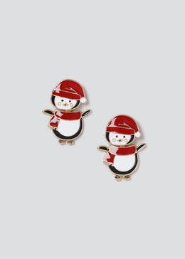 Christmas 'Penguinning' Front and Back Earrings