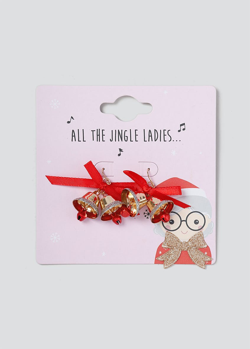 Christmas 'Jingle Ladies' Bell Earrings