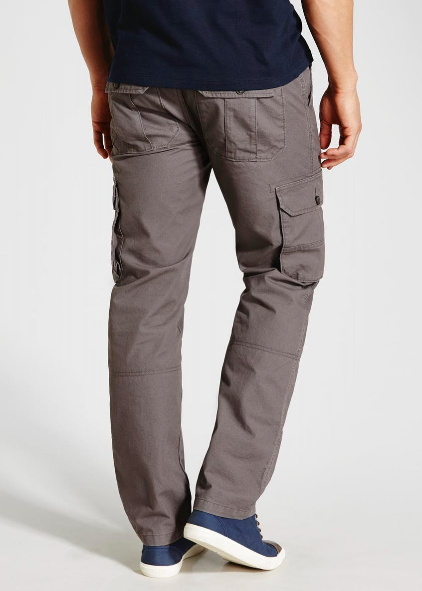 Straight Fit Cargo Trousers