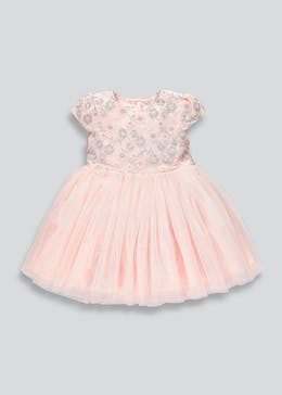 Girls Embroidered Tulle Tutu Dress (3mths-6yrs)