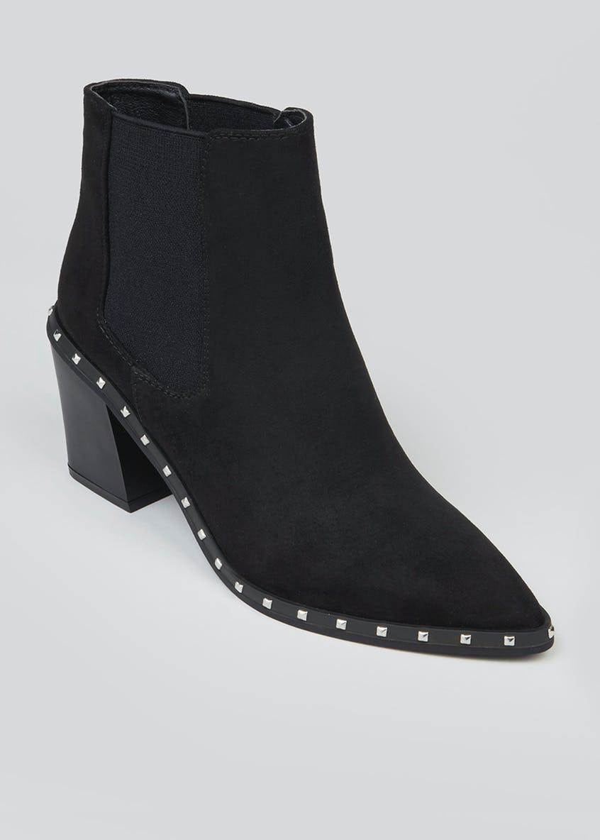 Studded Heeled Chelsea Boots