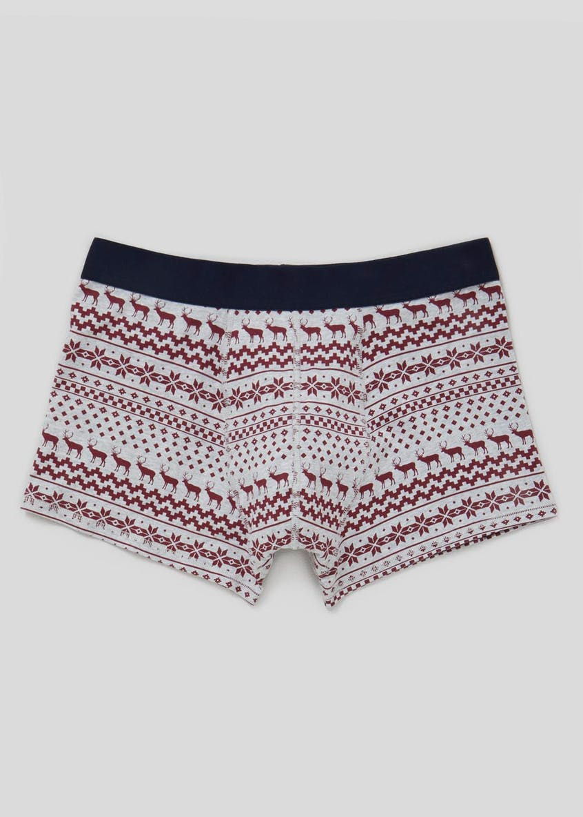 Fair Isle Stag Christmas Hipster Boxers