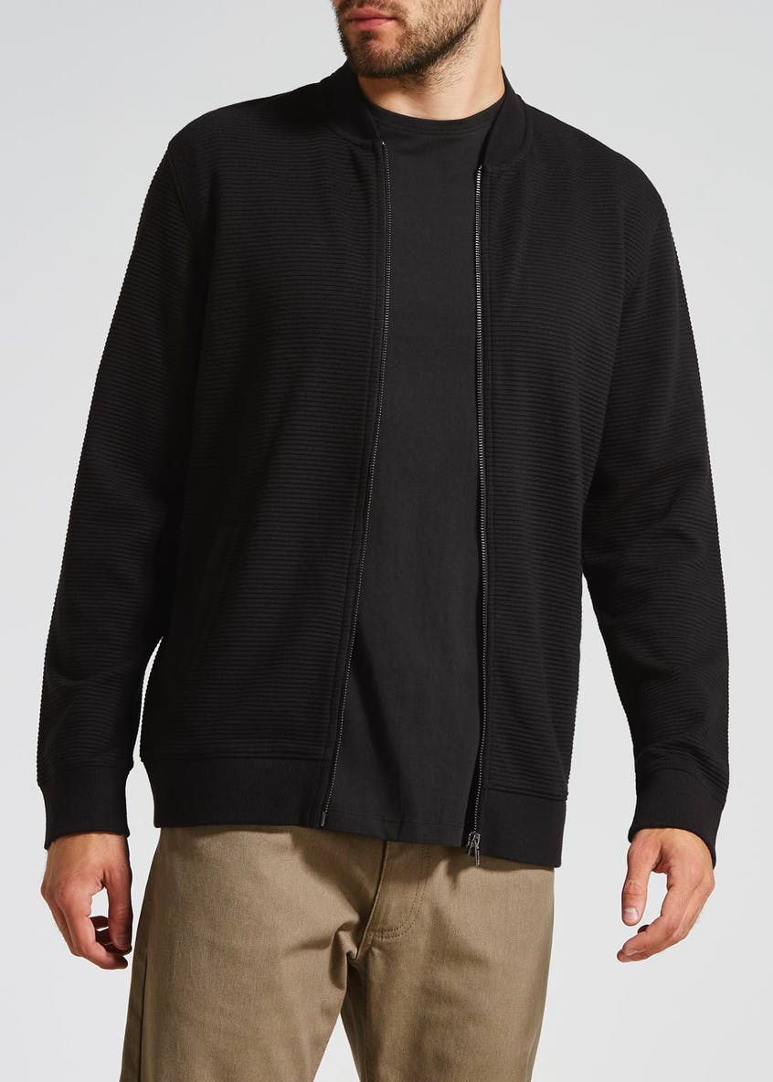 Ottoman Ribbed Baseball Jacket