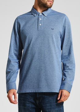 Lincoln Long Sleeve Twill Polo Shirt
