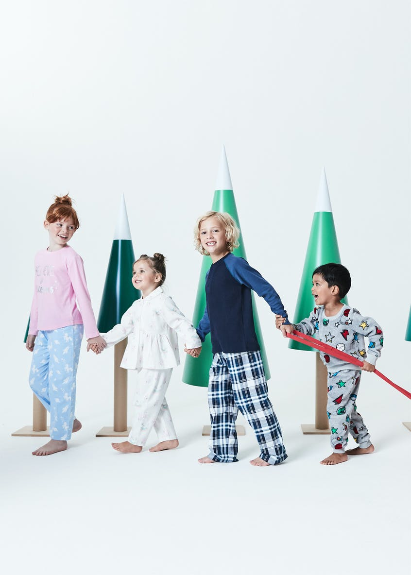 Boys Check Pyjama Set (5-13yrs)