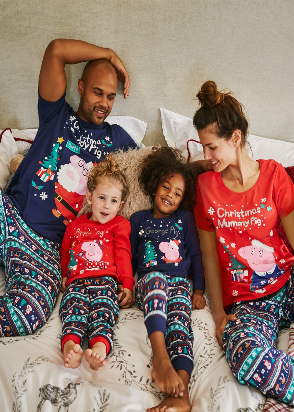 13340cb8 Kids Family Peppa Pig George Christmas Pyjama Set (9mths-5yrs ...