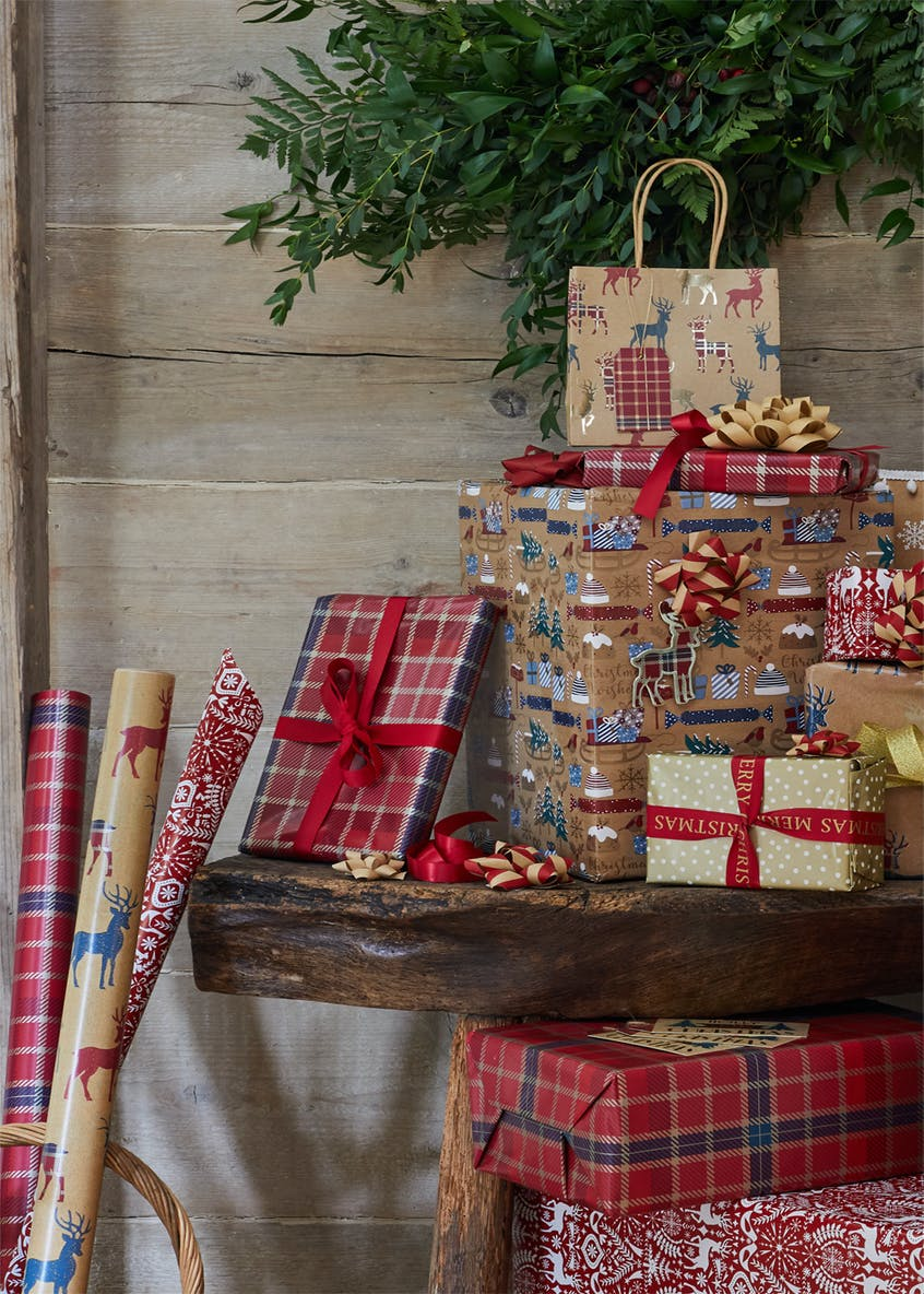 Mixed Christmas Gift Wrap Accessories
