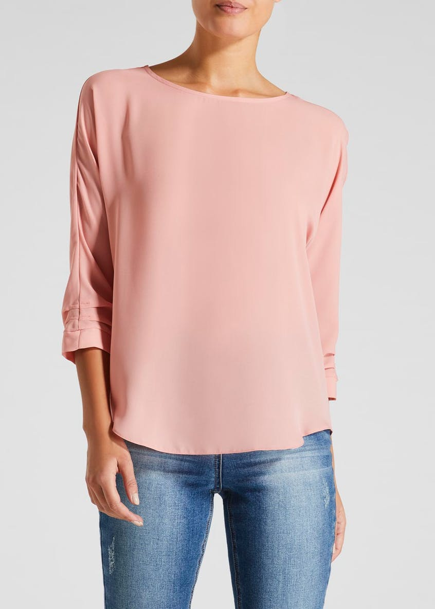 Ruche Sleeve Blouse