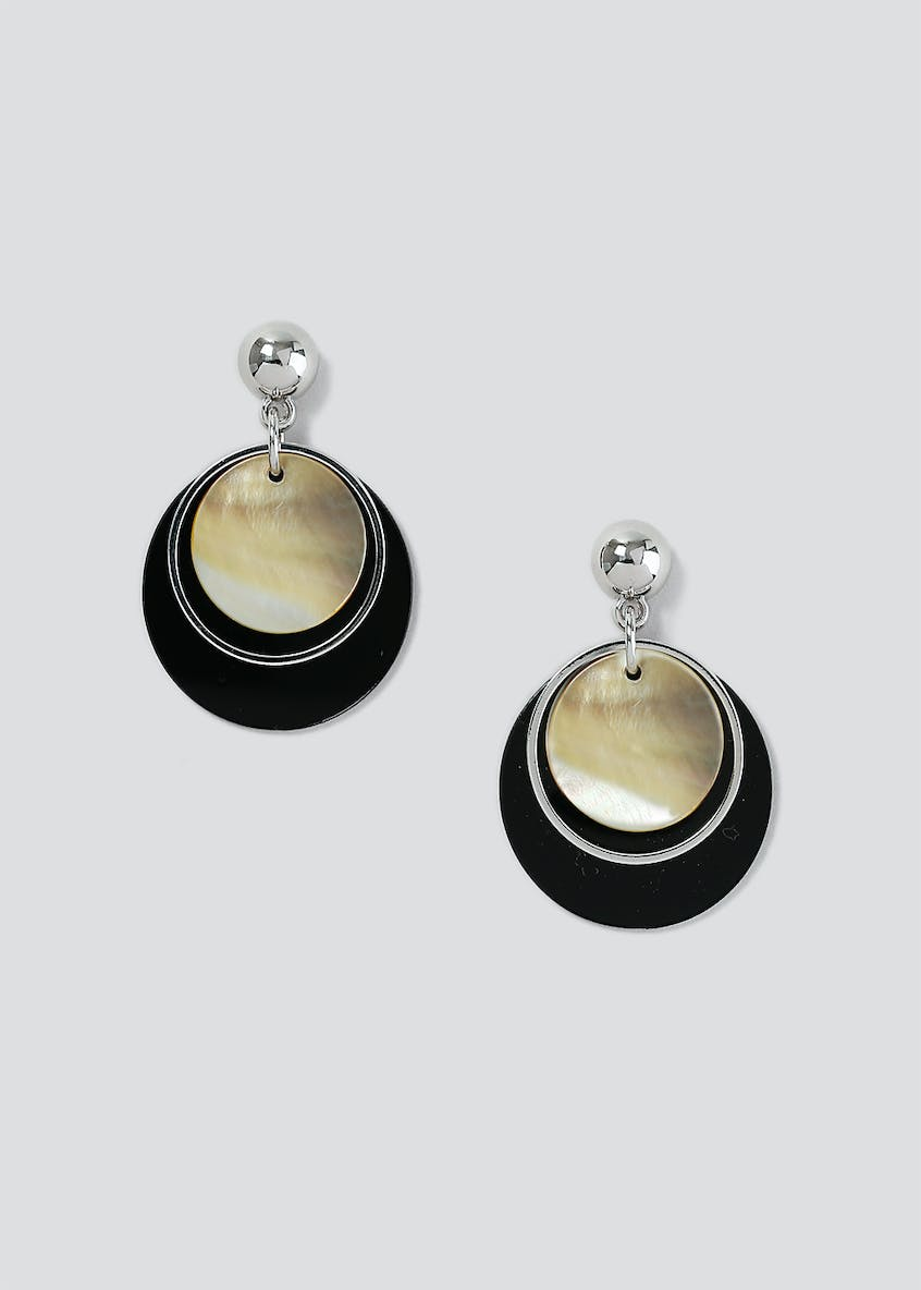 Shell Circle Layer Disc Earring