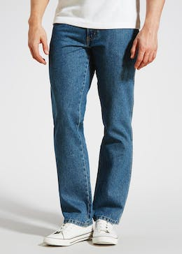 Wrangler Stonewash Straight Fit Jeans