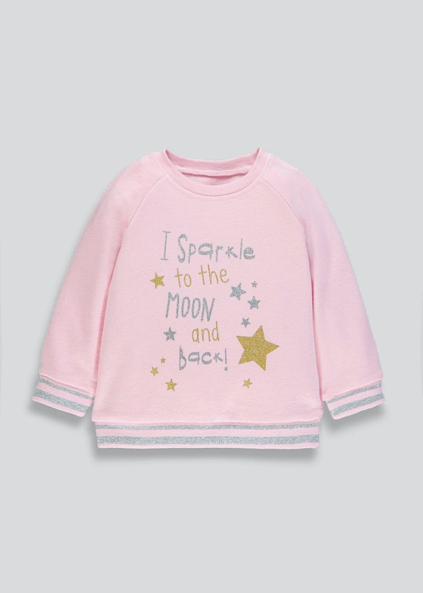 Girls Sparkle Slogan Sweatshirt (9mths-6yrs)