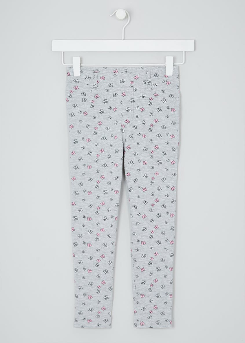 Girls Butterfly Loopback Leggings (4-13yrs)