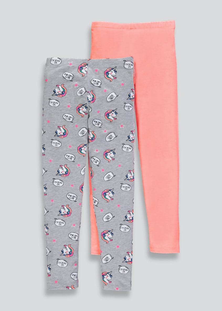 Girls 2 Pack Leggings (4-13yrs)