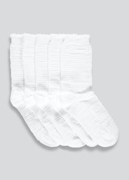 Girls 5 Pack Sparkle Stripe Socks (Younger 6-Older 5.5)