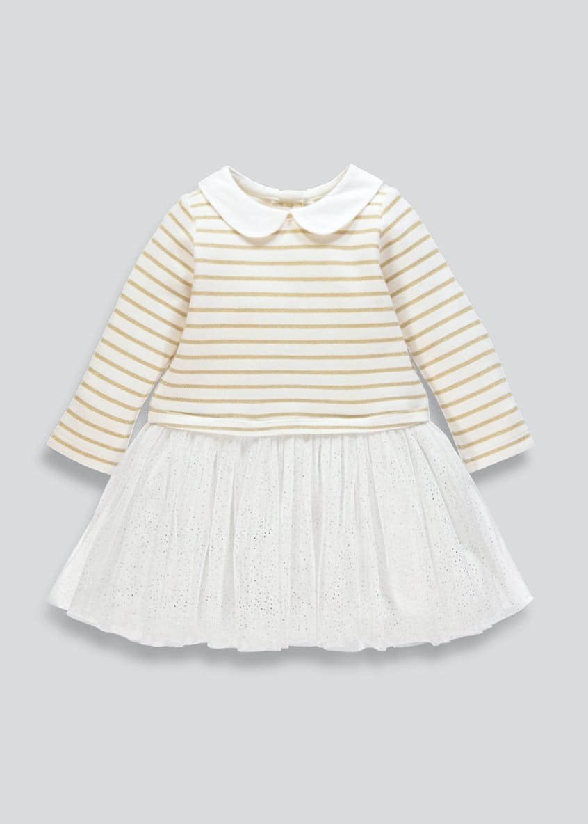 Girls Stripe Glitter Tutu Dress (9mths-6yrs)