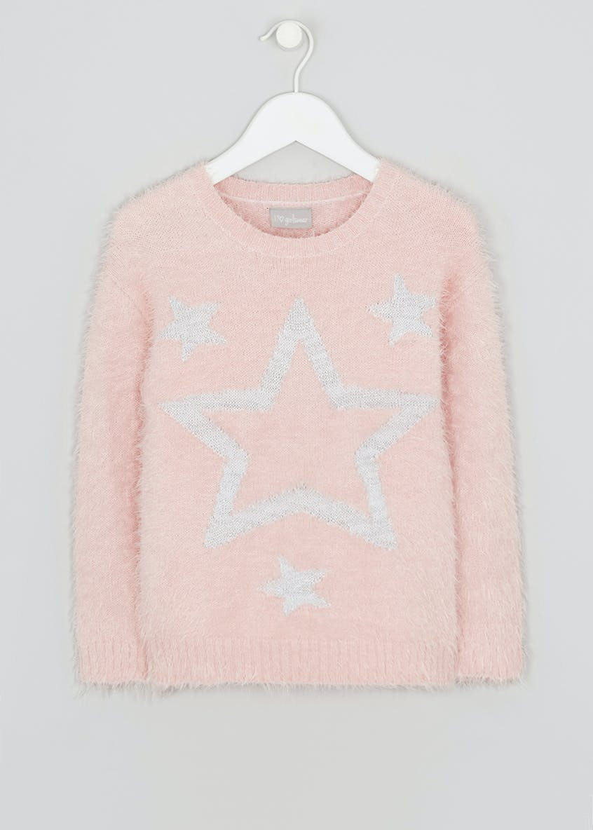 Girls Star Fluffy Eyelash Jumper (4-13yrs)