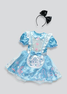 Kids Disney Alice in Wonderland Fancy Dress Costume (3-9yrs)