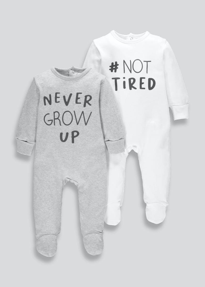 Unisex Slogan Baby Grows (Tiny Baby-9mths)