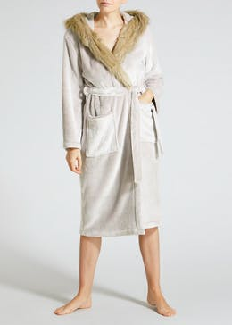 Faux Fur Dressing Gown