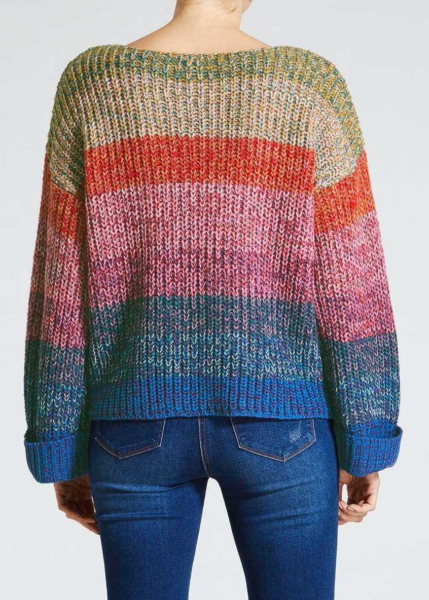 Stripe Twist Ombre Jumper