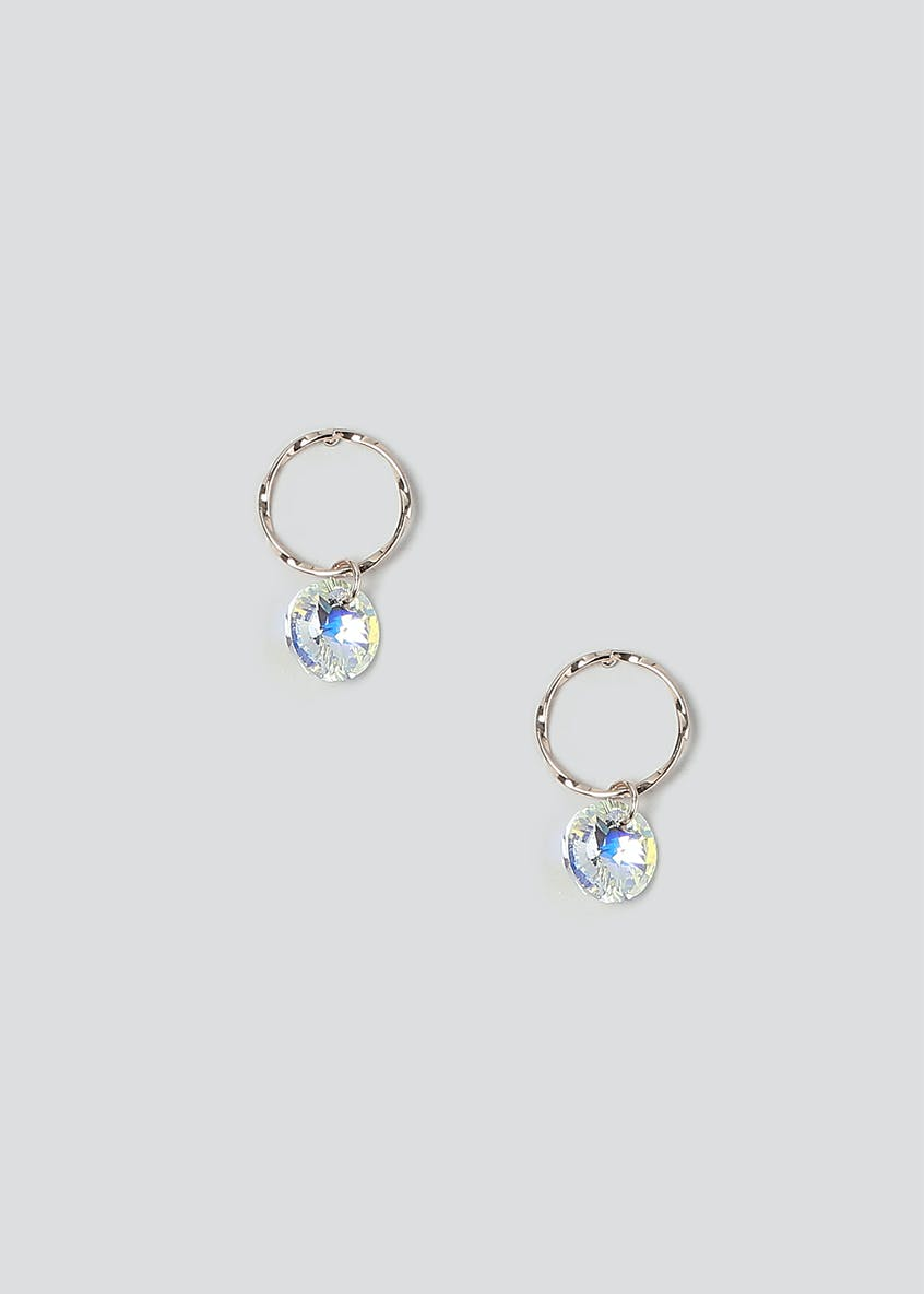 Swarovski Elements Hoop Drop Earrings