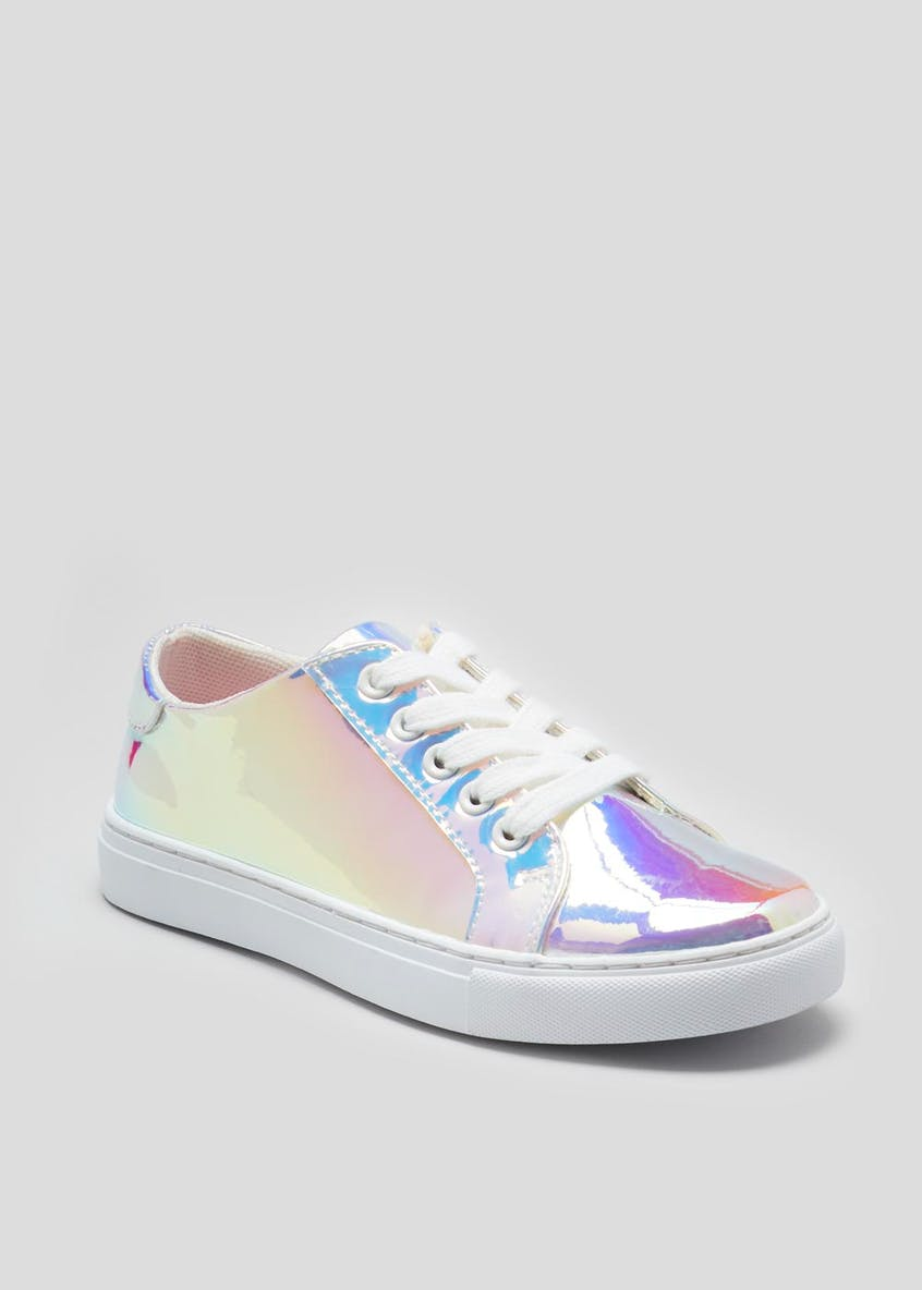 Girls High Shine Iridescent Trainers (Younger 10-Older 5)
