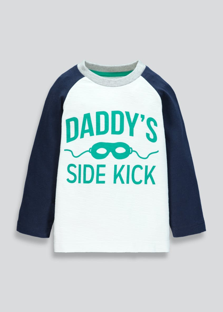 Kids Daddy Slogan Long Sleeve T-Shirt (9mths-6yrs)