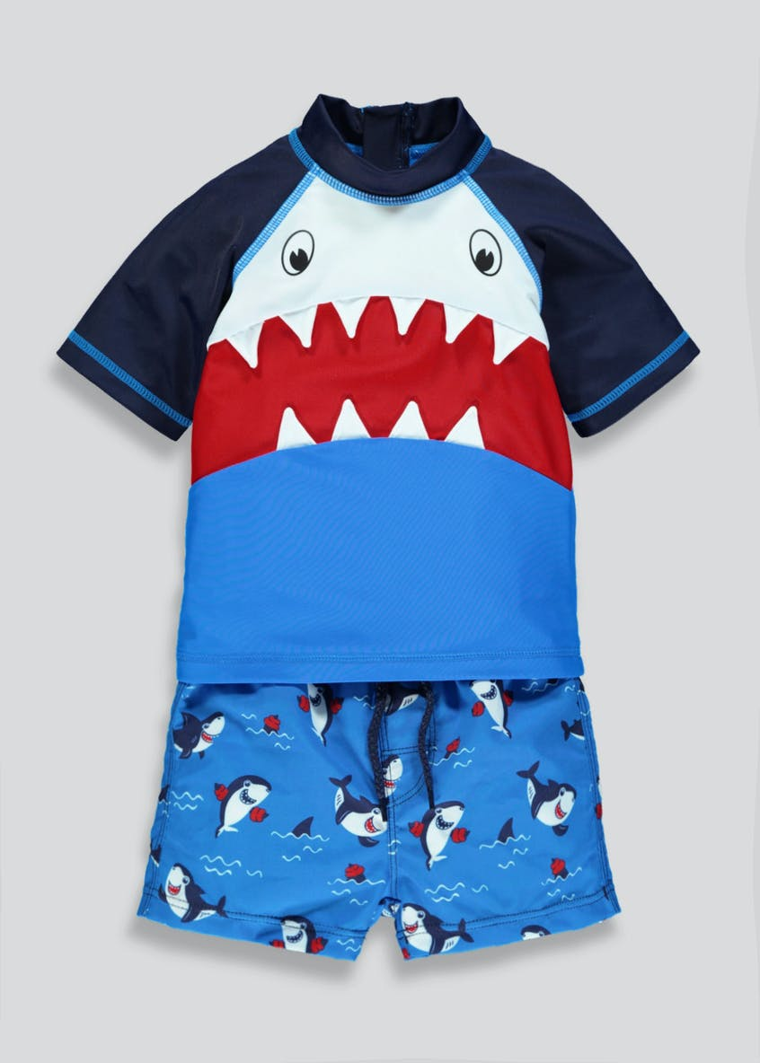 Kids 2 Piece Shark Swim Set (6mths-6yrs)