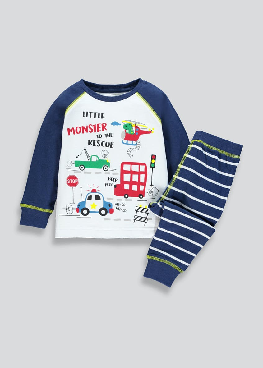 Kids Monster Rescue Pyjama Set (9mths-5yrs)