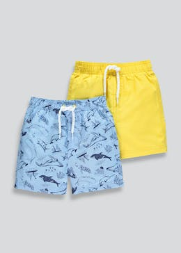 Boys 2 Pack Swim Shorts (6mths-6yrs)