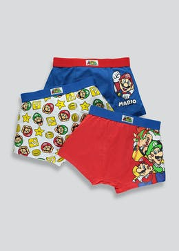 Kids Mario 3 Pack Trunks (4-9yrs)