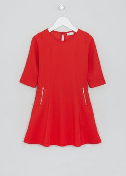 Girls Ribbed Dress (4-13yrs)