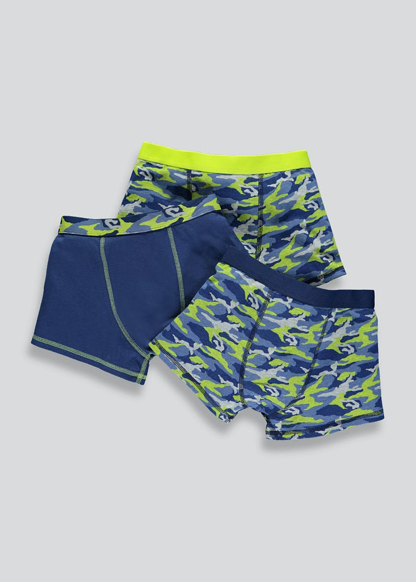 Boys 3 Pack Camo Trunks (2-13yrs)