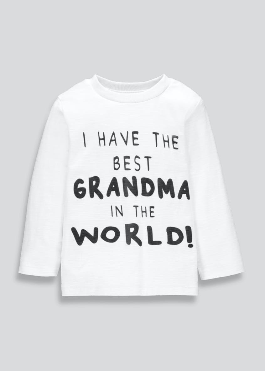 Kids Grandma Slogan T-Shirt (3mths-6yrs)