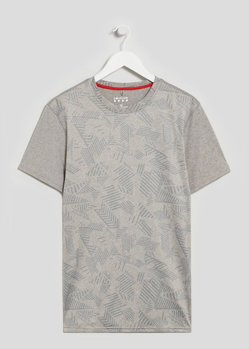 Souluxe Abstract Print Gym T-Shirt
