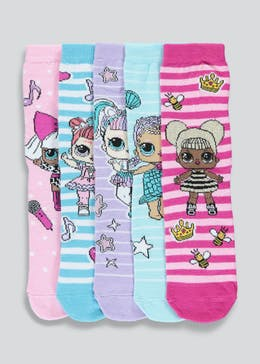 Kids L.O.L. Surprise Socks (Younger 9-Older 8.5)