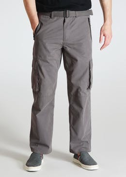 Big   Tall Straight Fit Belted Cargo Trousers 5b45009e78db