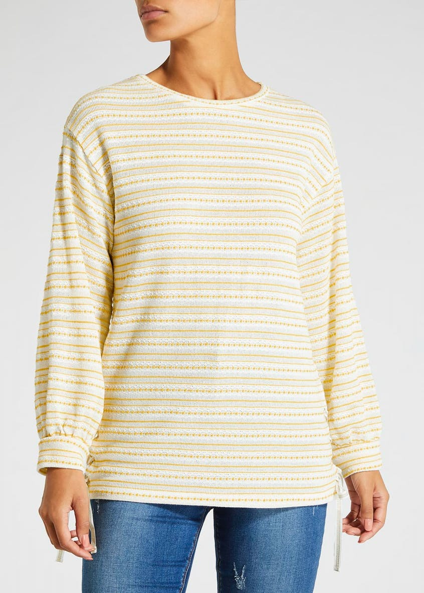 Falmer Stripe Knitted Jersey Top