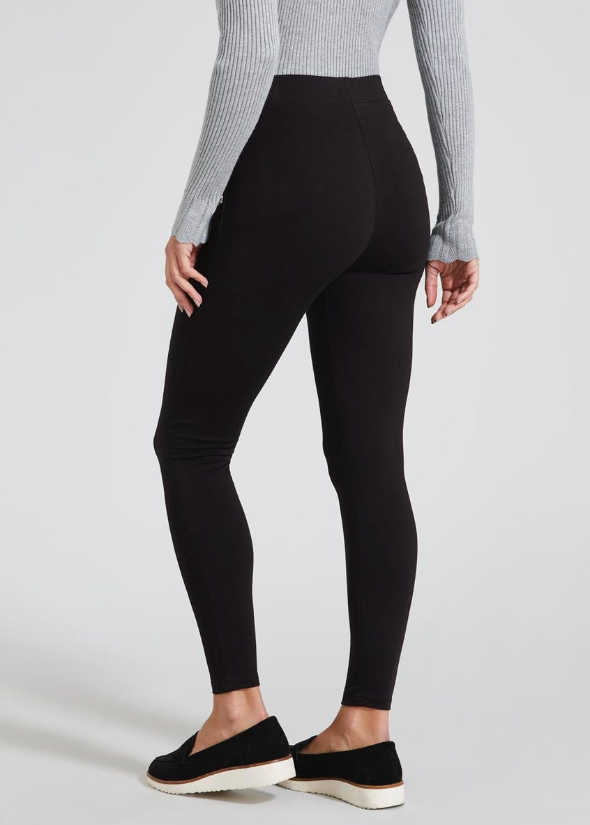 Button High Waisted Leggings
