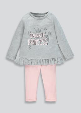 Girls Loopback Sweatshirt & Leggings (9mths-6yrs)