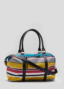Bright Stripe Weekend Bag