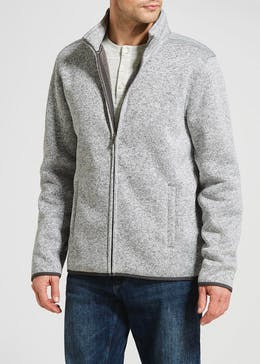 Textured Zip Through Fleece