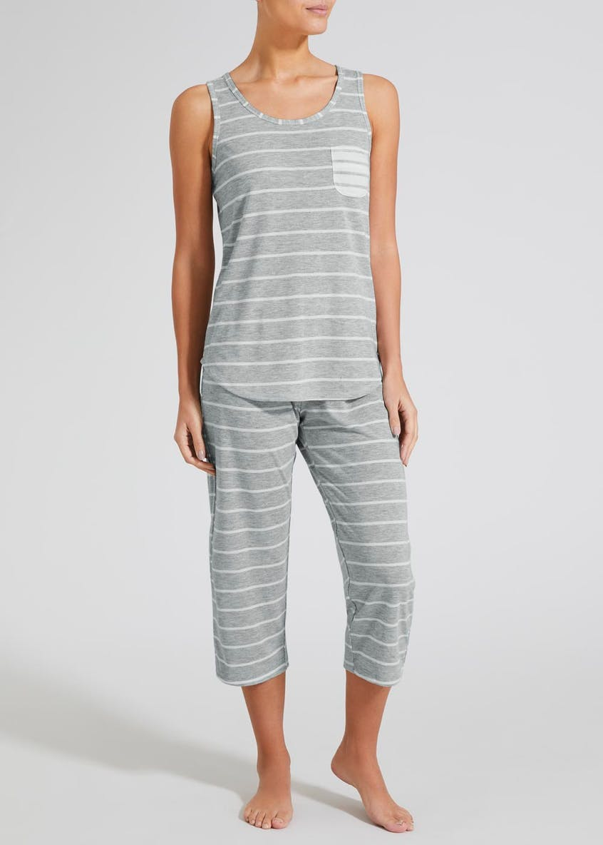 Stripe Cropped Pyjama Set