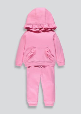 Girls Ruffle Sweatshirt & Jogging Bottoms (9mths-6yrs)