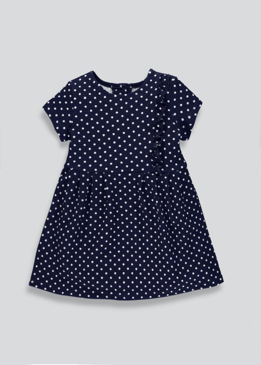 Girls Polka Dot Ruffle Jersey Dress (9mths-6yrs)