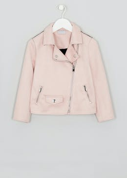 Girls Faux Suede Biker Jacket (4-13yrs)